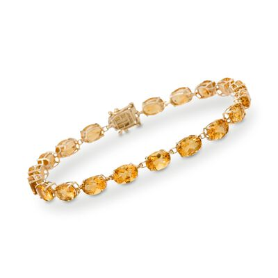 17.00 ct. t.w. Citrine Tennis Bracelet in 14kt Yellow Gold