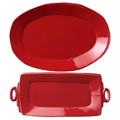 """Vietri """"Lastra"""" Red Platter from Italy"""