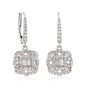 Gregg Ruth .62 ct. t.w. Diamond Drop Earrings in 18kt White Gold, , default