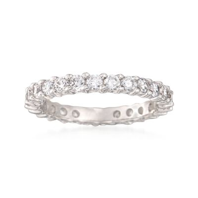1.25 ct. t.w. CZ Eternity Band in Sterling Silver, , default