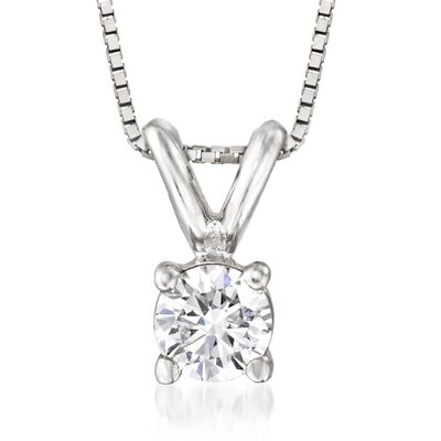 .20 Carat Diamond Solitaire Necklace in 14kt White Gold , , default