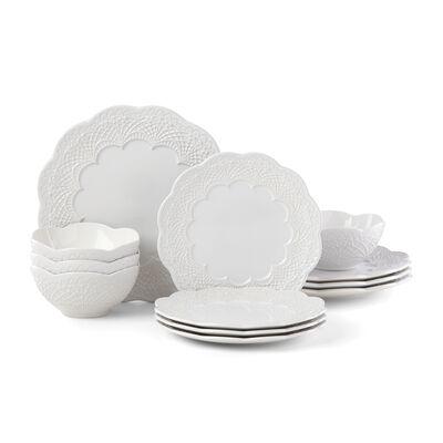 "Lenox ""Chelse Muse White"" 12-pc. Dinnerware Set, , default"