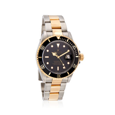 Pre-Owned Rolex Submariner Men's 40mm Automatic Stainless Steel Watch with 18kt Yellow Gold, , default