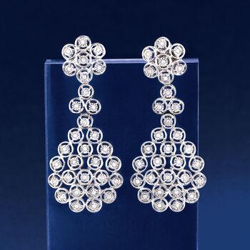 .50 ct. t.w. Diamond Multi-Circle Drop Earrings in Sterling Silver