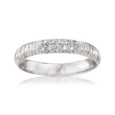 .10 ct. t.w. Pave Diamond Ring in 14kt White Gold