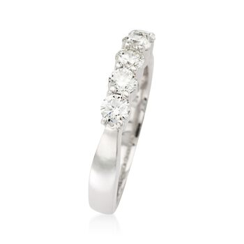 .75 ct. t.w. 5-Stone Diamond Wedding Ring in 14kt White Gold, , default