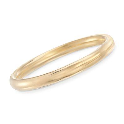 Italian Andiamo 8mm 14kt Yellow Gold Bangle Bracelet, , default