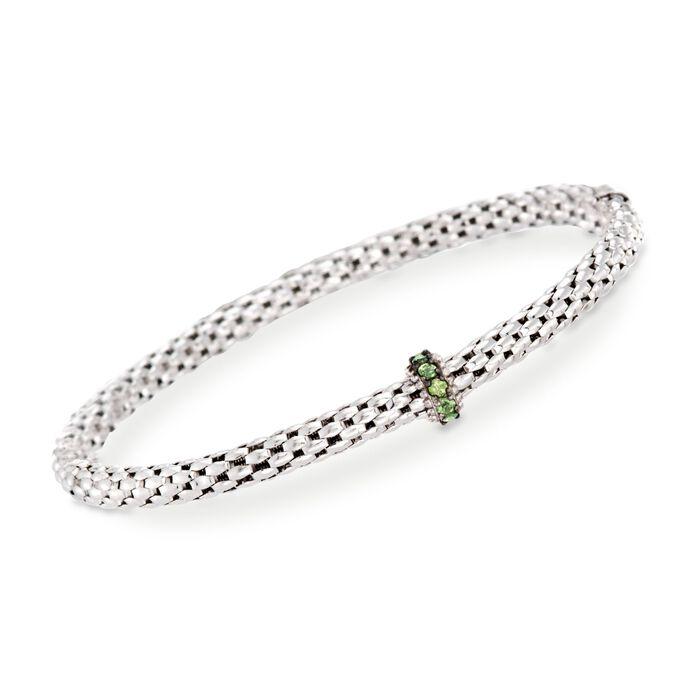 """Phillip Gavriel """"Popcorn"""" .40 ct. t.w. Green Peridot Bracelet in Sterling Silver. 7"""""""