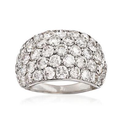 C. 1990 Vintage 5.00 ct. t.w. Diamond Multi-Row Ring in Platinum, , default