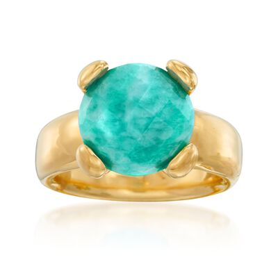 Italian Andiamo 14kt Yellow Gold Amazonite Ring, , default
