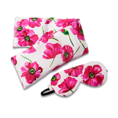 Poppy Silk Blush Hot/Cold Pack and Eye Mask Set