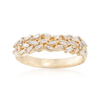 .38 ct. t.w. Baguette Diamond Ring in 14kt Yellow Gold, , default