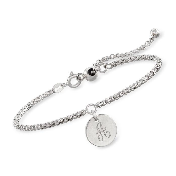 Italian Sterling Silver Personalized Bolo Bracelet