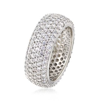 3.25 ct. t.w. CZ Eternity Band in Sterling Silver, , default