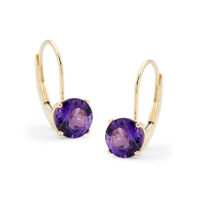 1.50 ct. t.w. Amethyst Earrings in 14kt Yellow Gold , , default