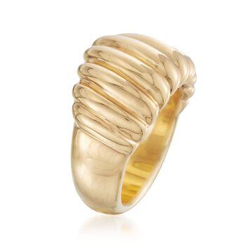 Andiamo 14kt Yellow Gold Shrimp Ring, , default
