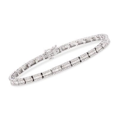 2.65 ct. t.w. Diamond Bracelet in Sterling Silver, , default