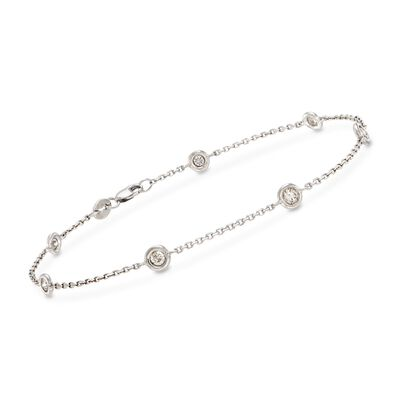 .50 ct. t.w. Diamond Bracelet in 14kt White Gold, , default
