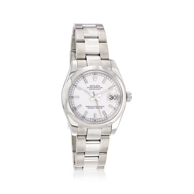 Pre-Owned Rolex Datejust Women's 31mm Automatic Stainless Steel Watch, , default