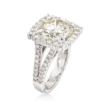 Majestic Collection 8.46 ct. t.w. Diamond Halo Ring in 18kt White Gold