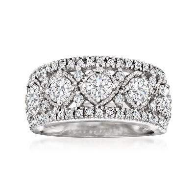 1.65 ct. t.w. Diamond Openwork Band Ring in 14kt White Gold