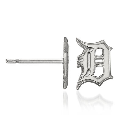 Sterling Silver MLB Detroit Tigers Extra Small Stud Earrings, , default