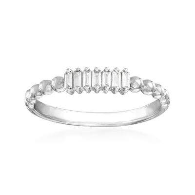 .10 ct. t.w. Diamond Multi-Baguette Ring in 14kt White Gold