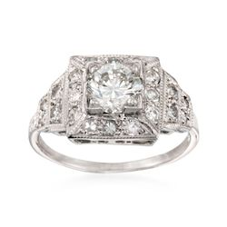 C. 2000 Vintage 1.40 ct. t.w. Certified Diamond Engagement Ring in Platinum. Size 6.75, , default