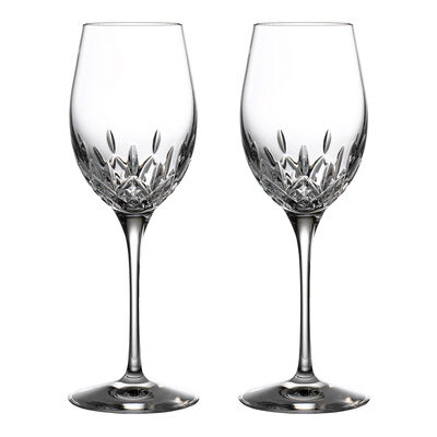 "Waterford Crystal ""Gift Bar"" Set of Two Lismore Essence White Wine Glasses"