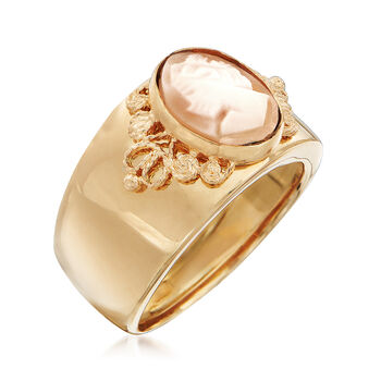 Italian Cameo Ring in 18kt Yellow Gold, , default