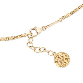 """Roberto Coin """"Silk"""" 18kt Yellow Gold Station Necklace. 39"""""""