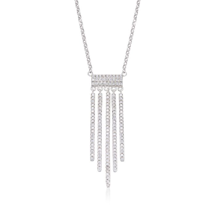 .70 ct. t.w. CZ Fringe Necklace in Sterling Silver