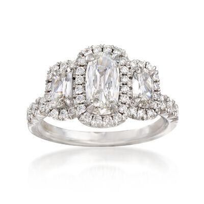 Henri Daussi 2.02 ct. t.w. Diamond Engagement Ring in 18kt White Gold, , default