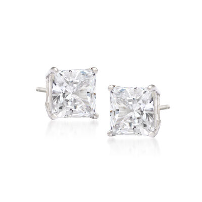 2.00 ct. t.w. Princess-Cut Diamond Stud Earrings in 14kt White Gold