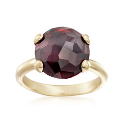 Italian 5.75 Carat Garnet Ring in 18kt Gold Over Sterling, , default