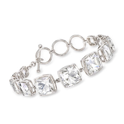 37.50 ct. t.w. Rock Crystal Link Bracelet in Sterling Silver