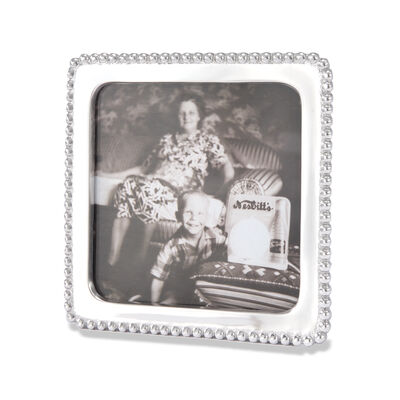 Mariposa 5x5 Square Beaded Photo Frame, , default