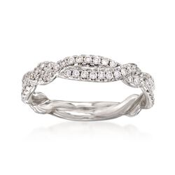 .47 ct. t.w. Diamond Twisted Ring in 14kt White Gold. Size 7, , default