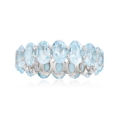 7.50 ct. t.w. Sky Blue Topaz Eternity Ring in Sterling Silver