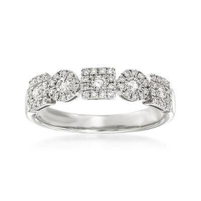 .51 ct. t.w. Diamond Circles and Squares Ring in 14kt White Gold, , default