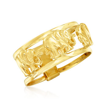 14kt Yellow Gold Elephant Ring