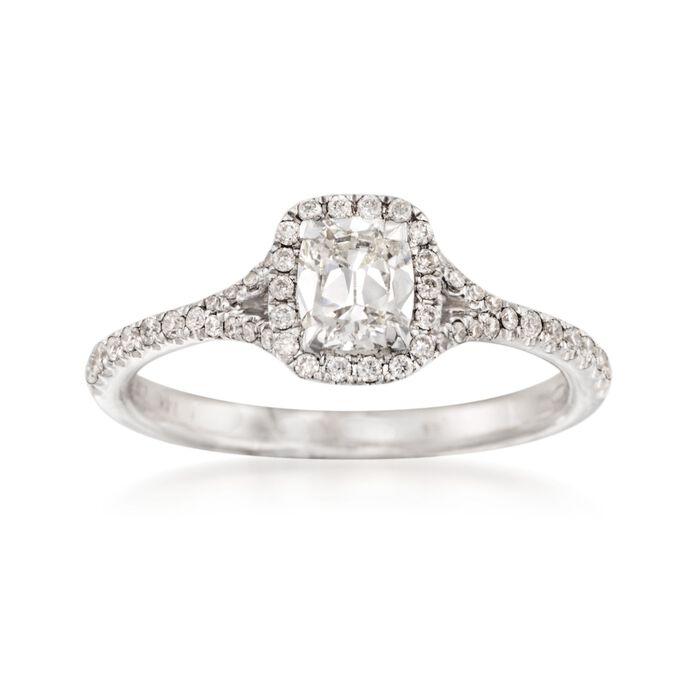 Henri Daussi 1.08 ct. t.w. Diamond Engagement Ring in 14kt White Gold, , default