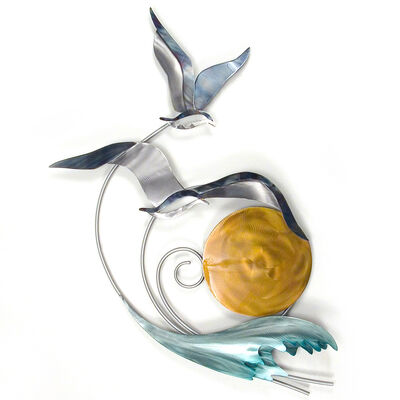 Copper Art Stainless Steel Abstract Seagull Wall Art , , default