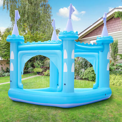 Child's Blue Castle Inflatable Kiddie Pool