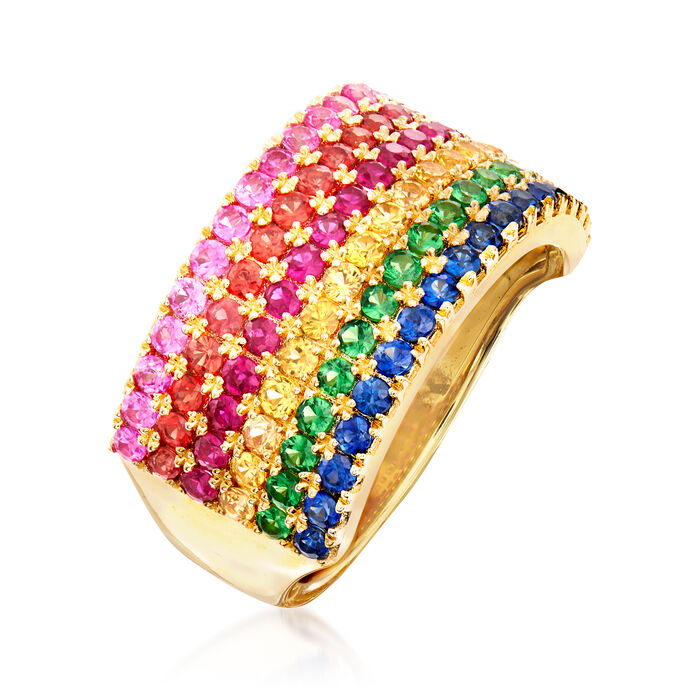 2.30 ct. t.w. Multi-Gemstone Ring in 14kt Yellow Gold