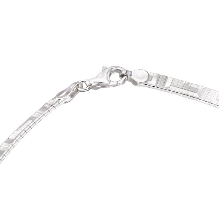 Italian Sterling Silver Greek Key Cleopatra Necklace