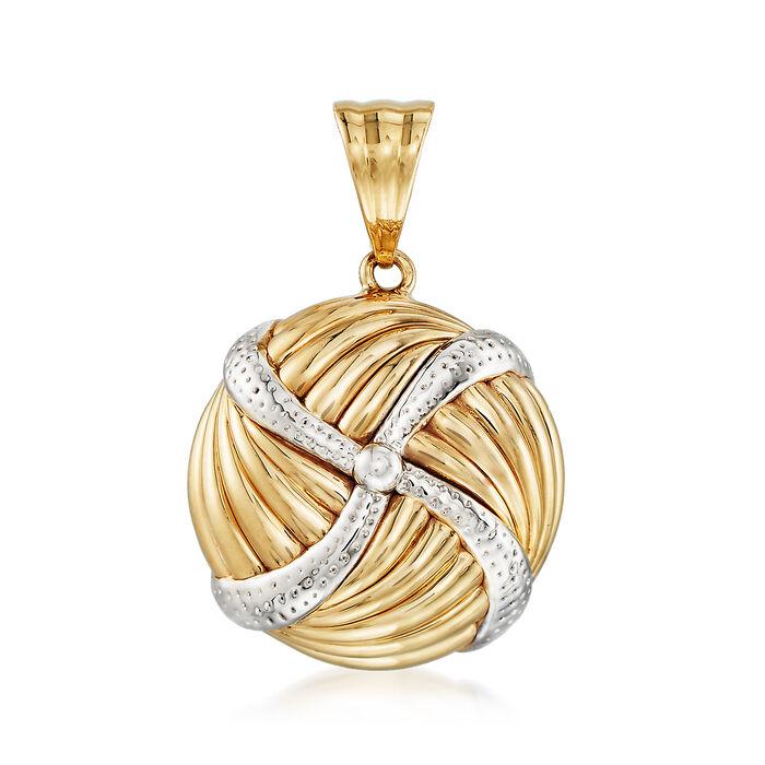 Pinwheel Pendant in 14kt Yellow Gold