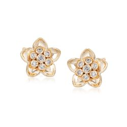 .20 ct. t.w. Diamond Flower Stud Earrings in 14kt Yellow Gold, , default