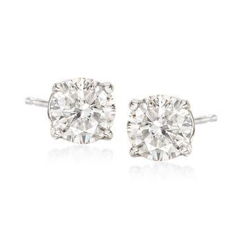 2.00 ct. t.w. Diamond Halo Earrings in 14kt White Gold, , default