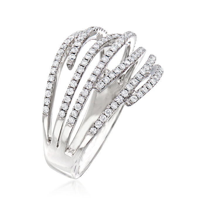 C. 1990 Vintage Piero Milano .60 ct. t.w. Diamond Ring in 18kt White Gold